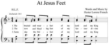Hester Lorenz French Hymn At Jesus Feet
